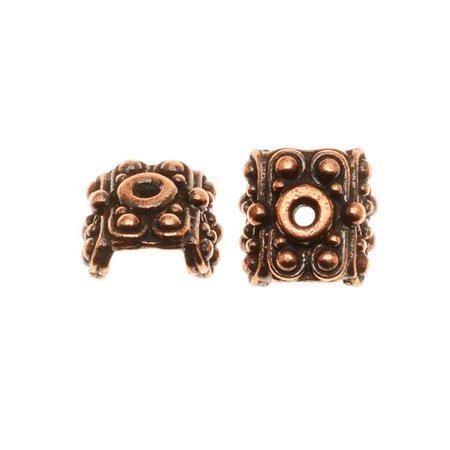 Eagle Head Pendant Bead - Copper Plated Pewter Raja Bead Pendant Caps 5.6mm (2)