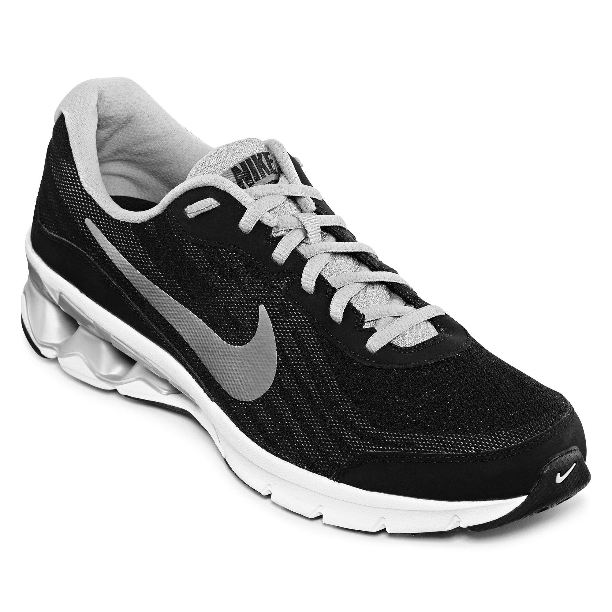 Nike Men's Reax Run 9 Black/Metallic Silver/Dark Grey/Whi...