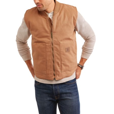 Bear river men 39 s quilted lined canvas vest with kangaroo for Bear river workwear shirts