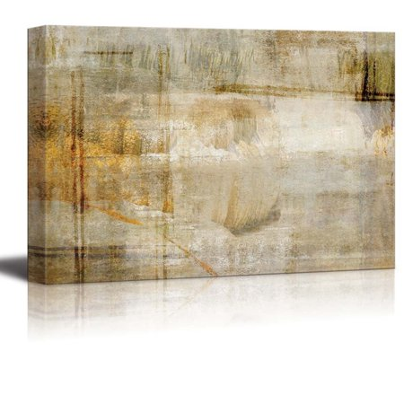 wall26 Abstract Bronze and Silver Textured Stripes with a Rusty Texture Over It - Canvas Art Home Decor - 12x18 inches