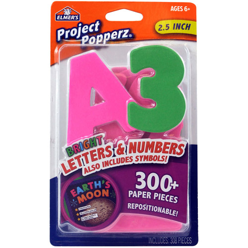 Elmer's Adhesive Letters and Numbers: red, 308 pieces