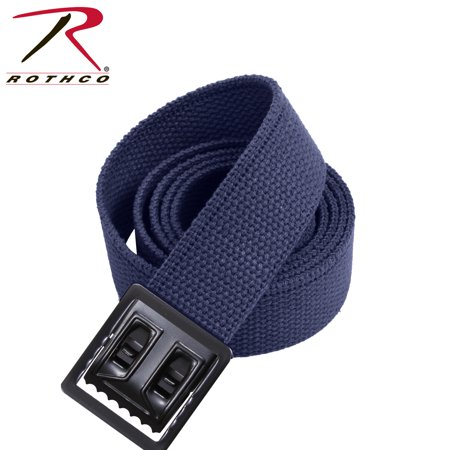 Rothco Military Web Belts w/ Open Face Buckle Navy Blue,Buckle : Black,Length : 44