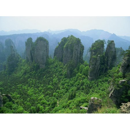 Zhangjiajie Forest Park in Wulingyuan Scenic Area in Hunan Province, China Print Wall Art By Robert Francis (Hunan Province China)