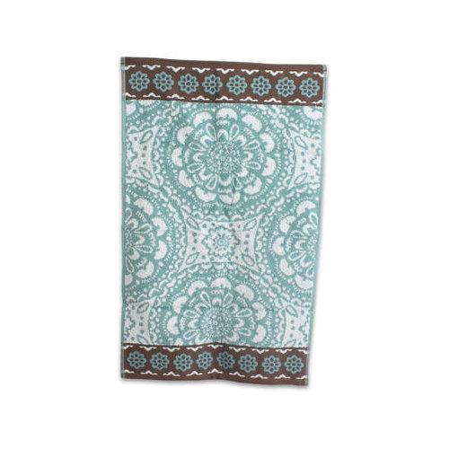 Ddi 1458901 16-Inch X27-Inch Bath Hand Towel Aqua Global Medallion -  Case of 9