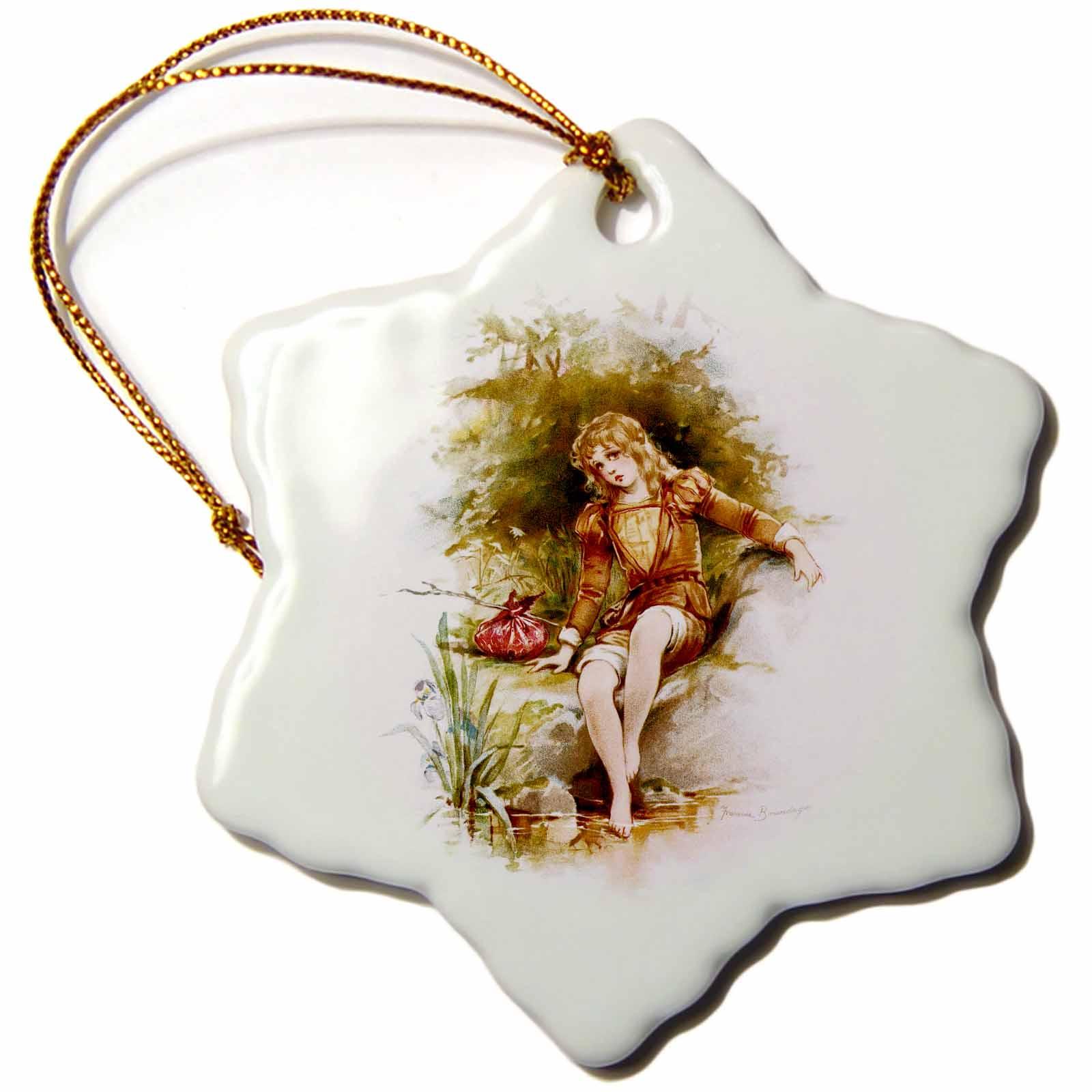 3dRose Brundage – Cymbeline, Snowflake Ornament, Porcelain, 3-inch