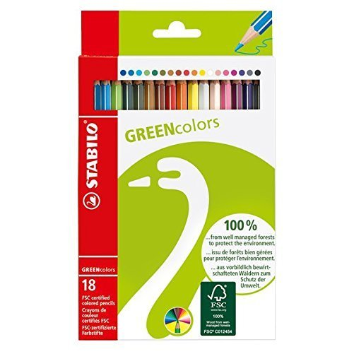 Stabilo Green Colored Pencil Set Of 18