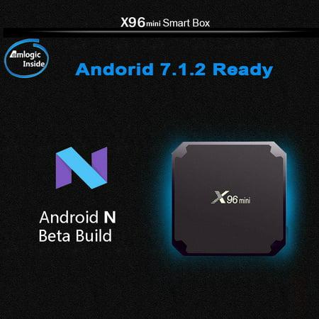 dc60640bf2 Ktaxon X96mini Quad Core S905W Android 7.1.2 4K 2GB+16GB Media Smart TV Box  Player black - Walmart.com