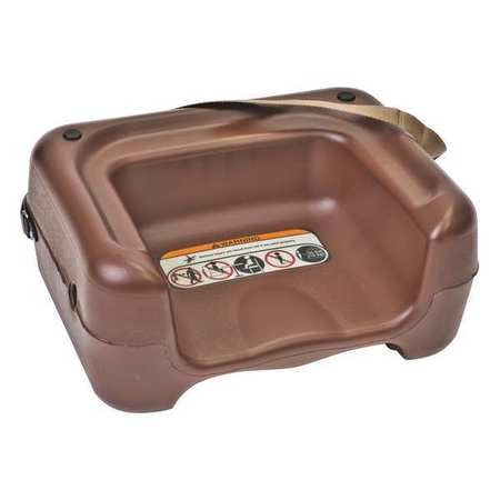 Plastic Booster Seat, Brown ,Csl Foodservice And Hospitality, 857BRN-1