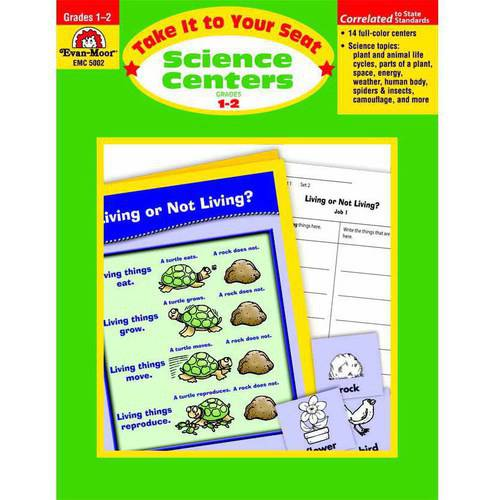 Evan-Moor Take It to Your Seat Science Centers Book, Multiple Grades
