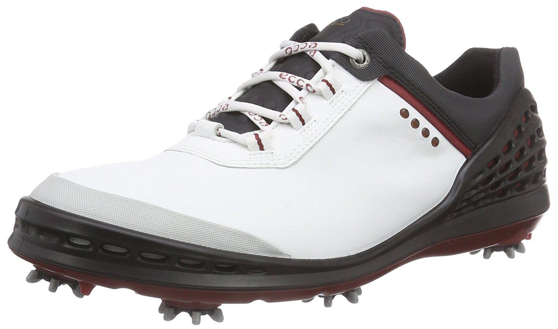 ECCO Men's Cage Golf Shoe, White Black, 41 EU 7-7.5 M US by ECCO Footwear