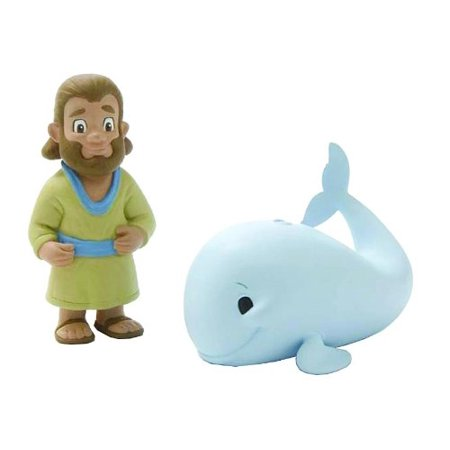 Jonah & The Big Fish 2 Piece Figurine Playset by - Christian Faith Based Toys, By BibleToys