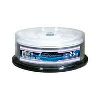 OPTICAL QUANTUM OQBDR06WTP-25 25GB 6XBD-R WHITE THERMAL HUB PRINTABLE 25PK