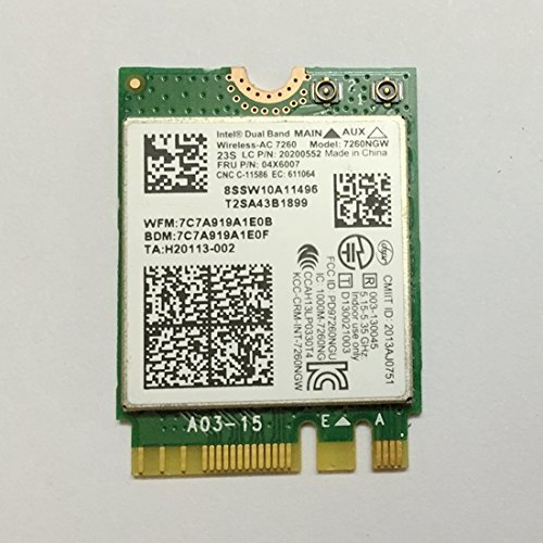 Intel Dual Band 7260ngw Wireless Ac Ngff Card For Lenovo Thinkpad T440 T540 X240 W540 Fru: 04X6007