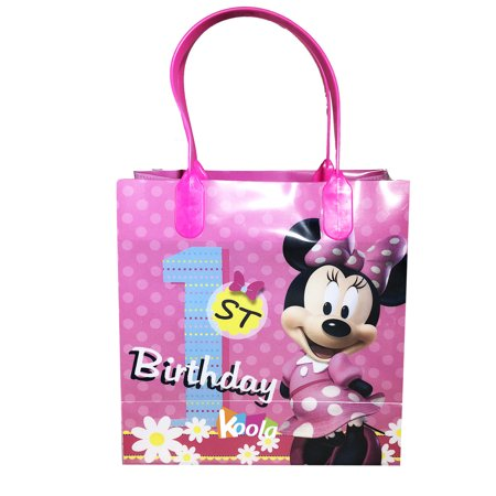 1st Birthday Party Loot Bags - Disney Minnie Mouse 1st Birthday Party Loot Bags Birthday Goody Fun Gift Bag for 1pcs