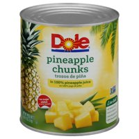 Dole Canned Pineapple Chunks in 100% Pineapple Juice, 106 Oz Can