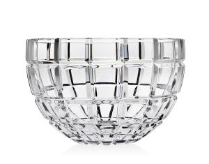 """10"""" Radius Non-Leaded Crystal Square-Cut Salad Fruit Serving Bowl by Godinger Silver Art"""