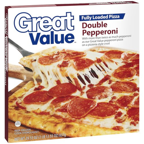Great Value Fully Loaded Double Pepperoni Pizza, 29.55 oz