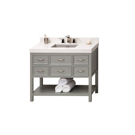 Ronbow Newcastle Inch Bathroom Vanity Set In Ocean Gray Quartz - 42 gray bathroom vanity