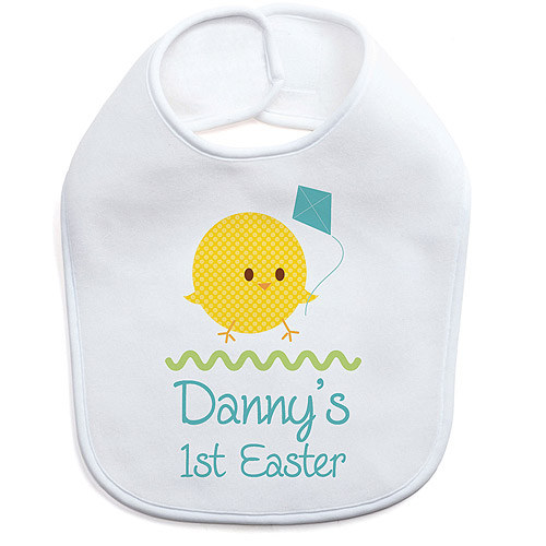 Personalized Boy's First Easter Bib