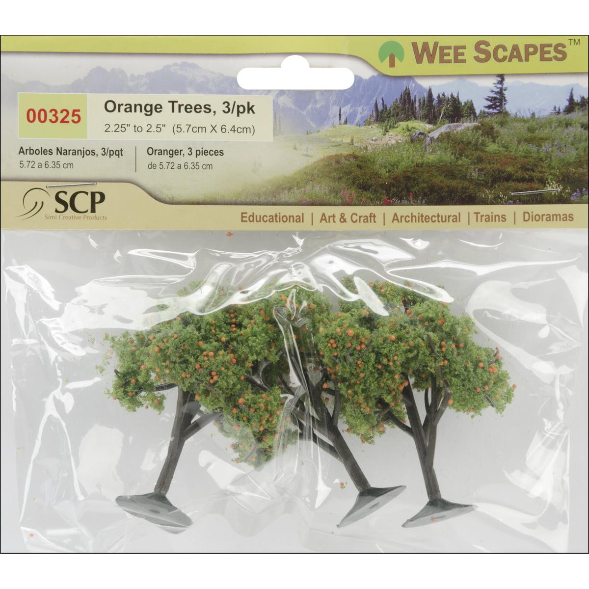 "Orange Trees 2.25"" To 2.5"" 3/Pkg-"