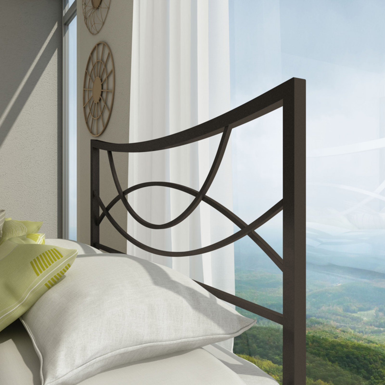 Amisco Equinox Metal Headboard
