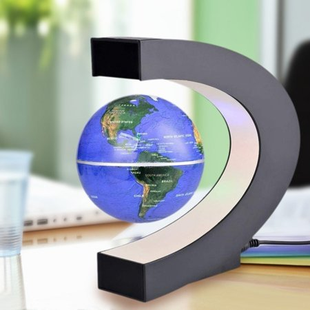 hot sale levitation anti gravity globe magnetic floating globe world map with led light for children