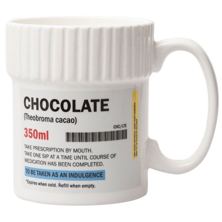 Chocolate Pill Pot 11.8 oz Mug Prescription Bottle Ceramic Coffee Chocolate (Pill Bottle Mug)