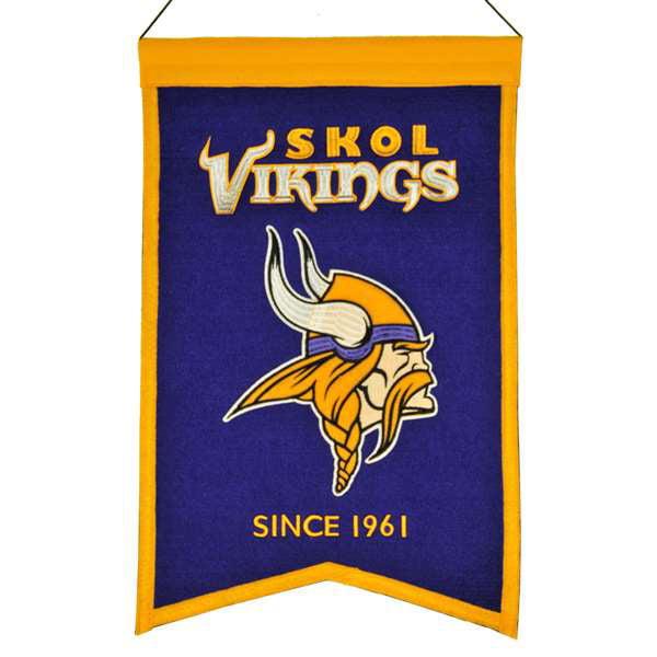 Minnesota Vikings Wool Franchise Banner