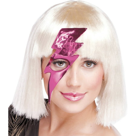 Hot Pink Lightning Bolt Mask Adult Halloween - Halloween Lightning