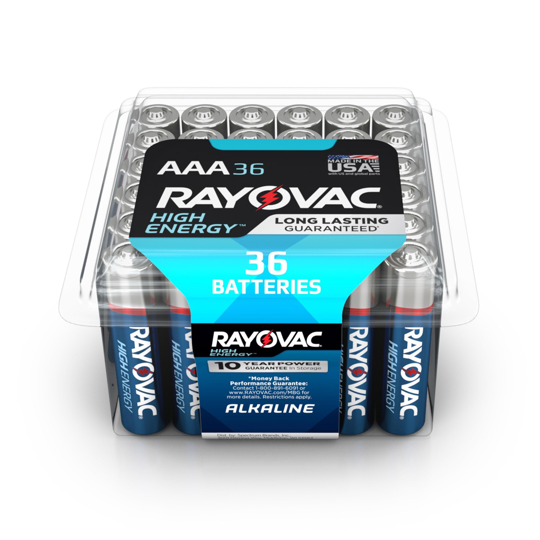 Rayovac High Energy Alkaline, AAA Batteries, 36 Count
