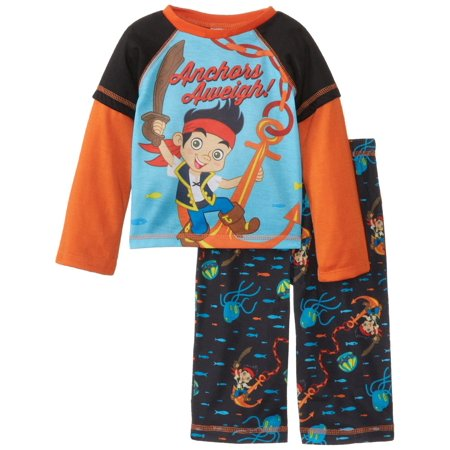 Disney Boys' Jake and The Pirates Poly 2 Piece Pajama Set, Black, Size: 18 Months