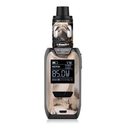 Pug Mini Button - Skins Decals for Vaporesso Revenger MINI Vape / Pug Mug, cute pug