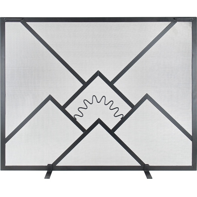 ACHLA Sunrise Single Panel Fireplace Screen