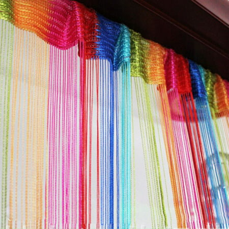 String Door Curtain Beads Hanging Wall Panel Room Divider Home Decor ()