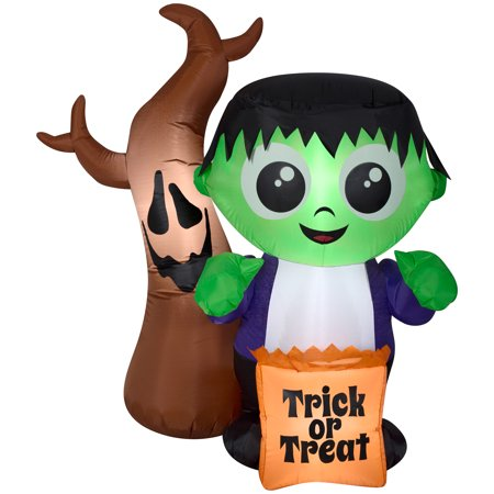 Halloween Airblown Inflatable 5 ft. Monster and Spooky Tree Scene by Gemmy Industries for $<!---->
