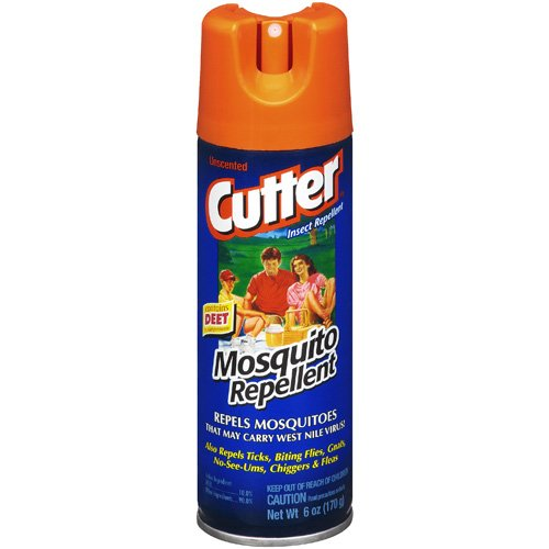 Cutter Contains Deet Unscented Mosquito Repellent, 6 Oz