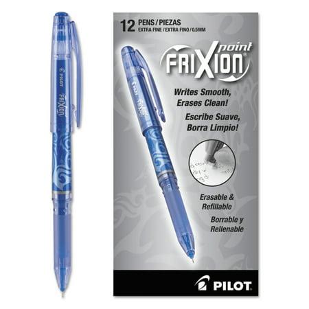 Pilot Frixion Point Erasable Gel Ink Stick Pen Blue 5mm Dozen