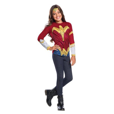 f5d92a05e43 Justice League Wonder Woman Child Girls Costume Top With Tiara-M