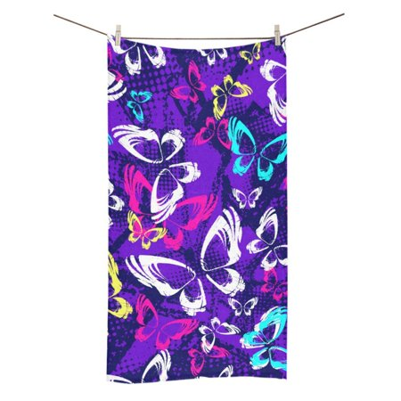 MKHERT Butterflies And Dots Bath Towel Shower Towel Wash Cloth Face Towels 16x28 Inches