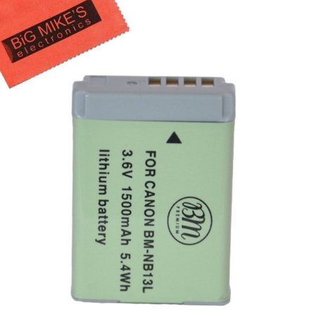 BM Premium NB-13L Battery for Canon PowerShot G5 X, G7 X, G7 X Mark II, G9 X, SX620 HS, SX720 HS Digital (Best Premium Batteries)