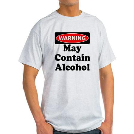 CafePress - May Contain Alcohol Warning T-Shirt - Light T-Shirt - - Alcohol Warning T-shirt