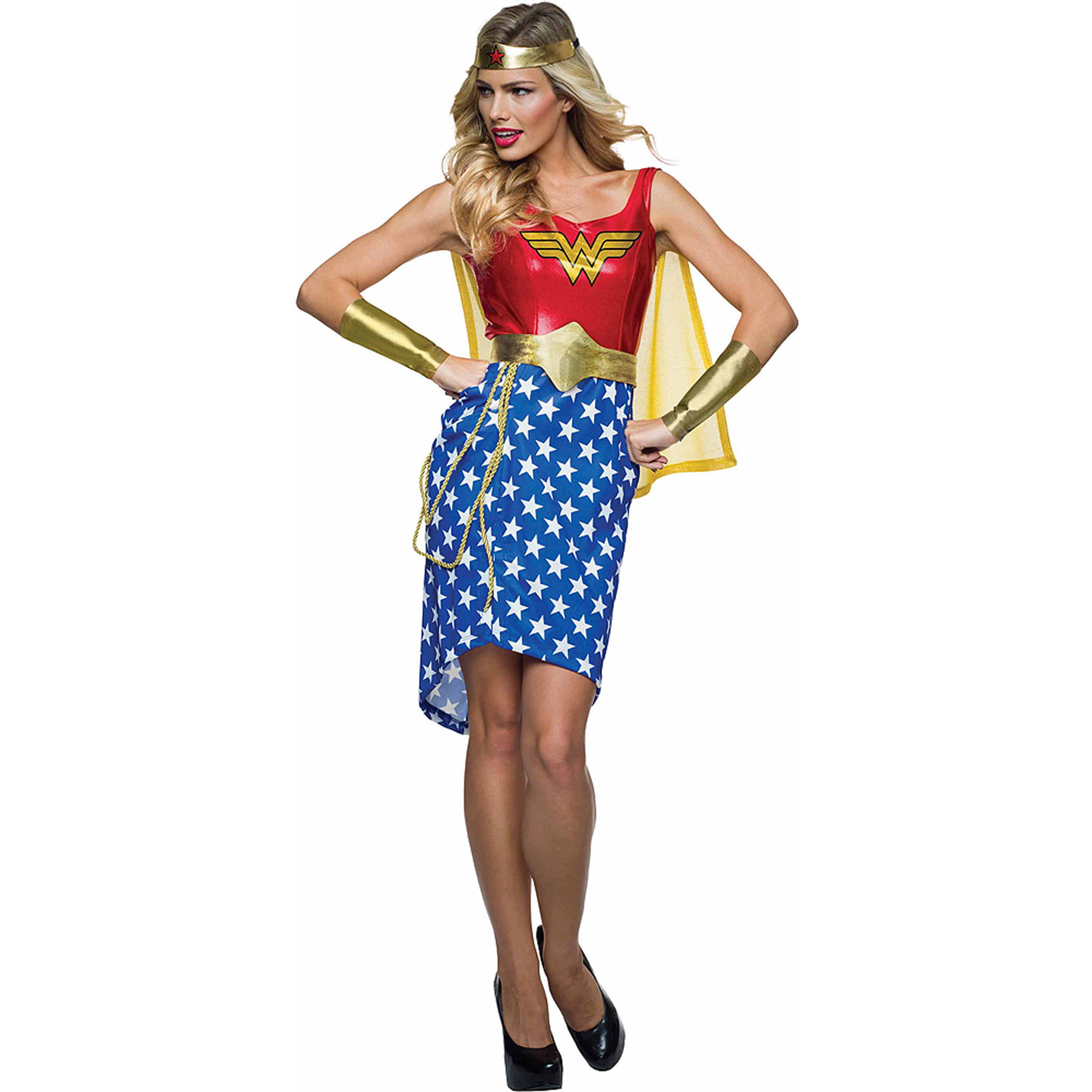 sc 1 st  Walmart & Wonder Woman Metallic Dress Halloween Costume - Walmart.com