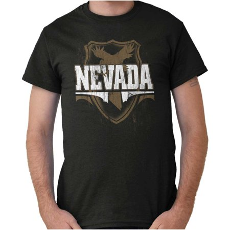 Nevada Gift (Brisco Brands Nevada Silver Game Day Gift NV Short Sleeve Adult T-Shirt )