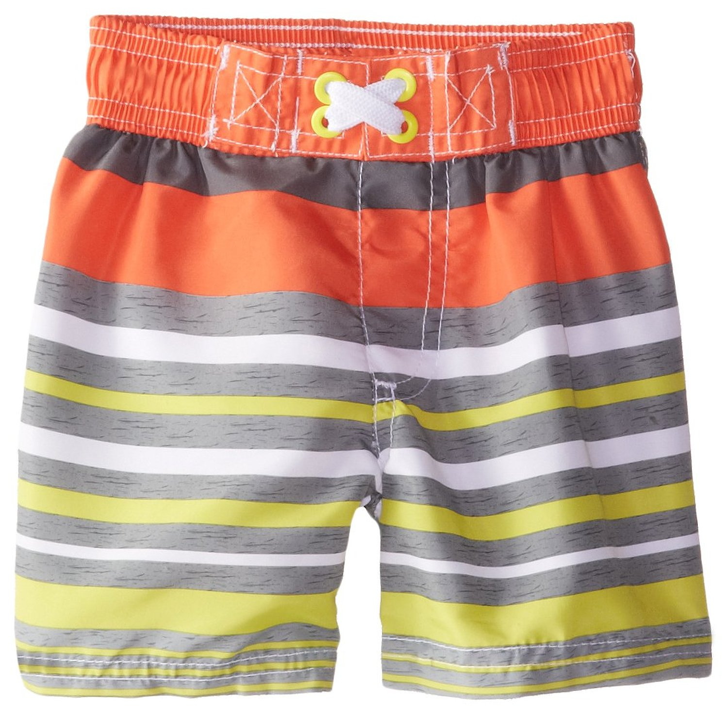 iXtreme Baby Boys' Multi-color All Over Stripes Rash Guard Swim Trunk Short