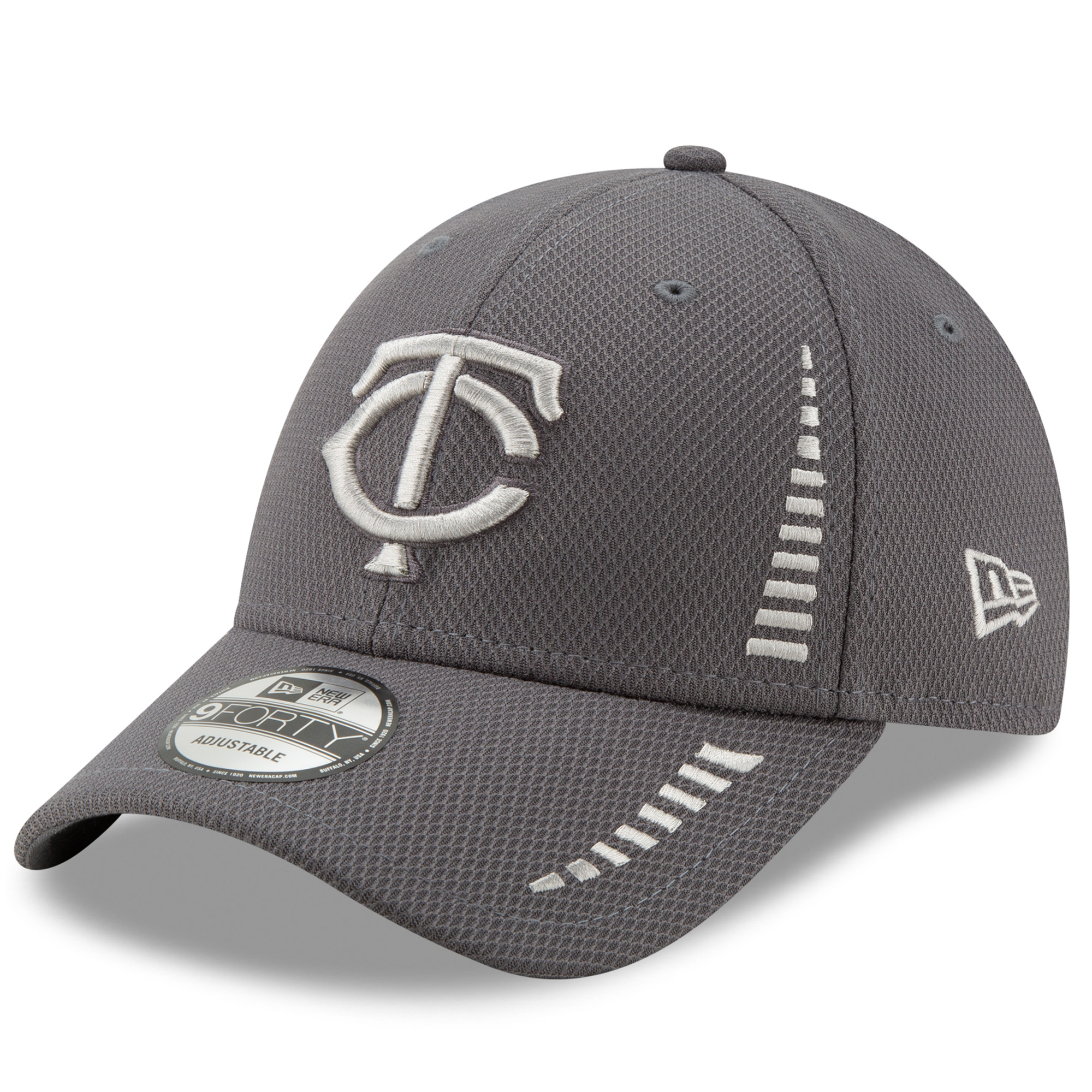 Minnesota Twins New Era Speed Tech 9FORTY Adjustable Hat - Graphite - OSFA