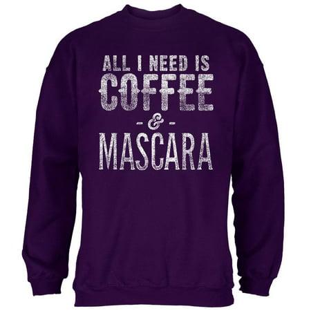 I Need A Good Costume For Halloween (All I Need Is Coffee and Mascara Mens Sweatshirt Purple)