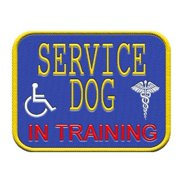 Service Dog In Training Patch for Service Dog Vest or Harness