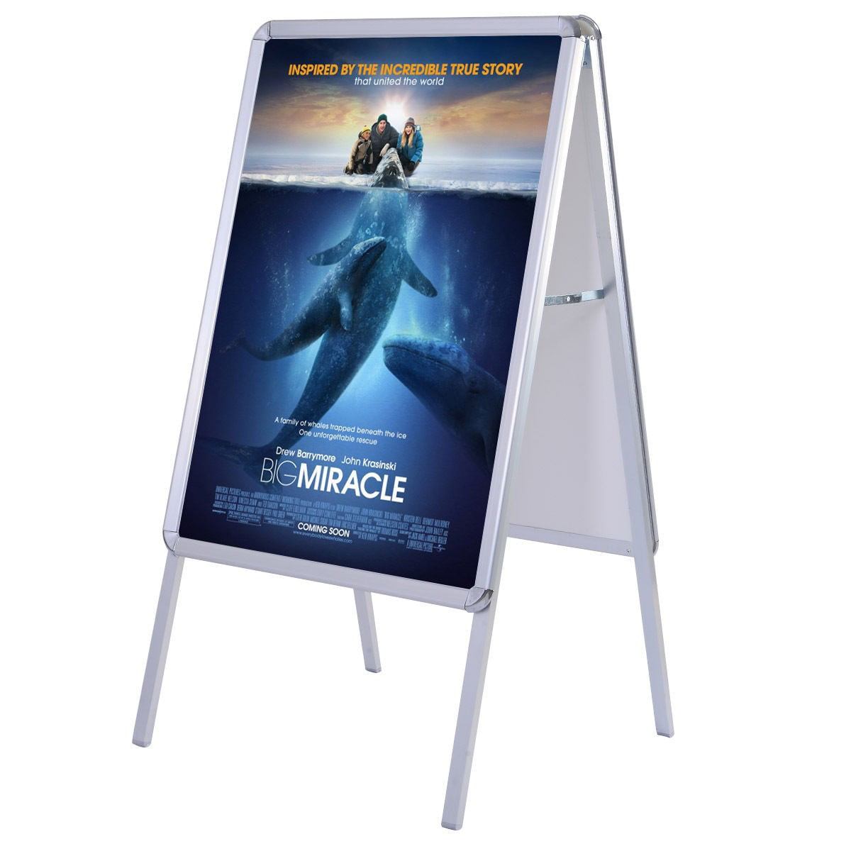 Portable A-Frame Display Snap Board Poster Stand Holder Street ...