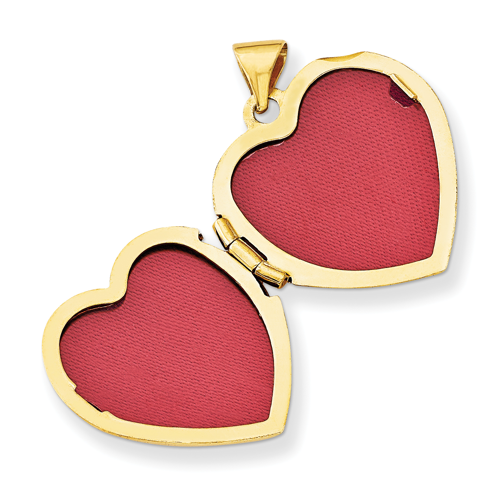 14K Yellow Gold Double Heart Locket - image 1 of 3