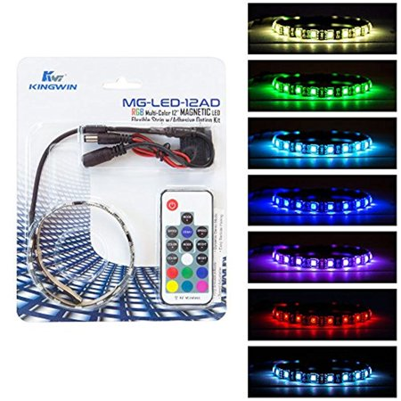 Kingwin rgb led strip lights led light strip magnetic kit w kingwin rgb led strip lights led light strip magnetic kit wadhesive option for aloadofball
